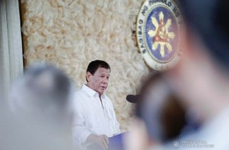 President Rodrigo Roa Duterte delivers a speech after signing into law the General Appropriations Act (GAA) of 2020 during a ceremony at the Malacañan Palace on January 6, 2020. (KING RODRIGUEZ/PRESIDENTIAL PHOTO)