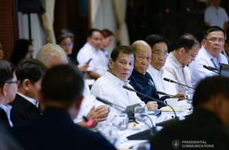 President Rodrigo Duterte presides over the Joint Armed Forces of the Philippines-Philippine National Police (AFP-PNP) Command Conference at the Malacañan Palace on January 7, 2020. KING RODRIGUEZ/PRESIDENTIAL PHOTO