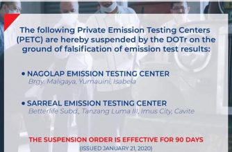 DOTr suspends two more emission test centers for alleged falsification of test results