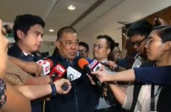 TWG Chair Antonio Gardiola speaks to reporters on Wednesday, Jan. 22./DOTr/