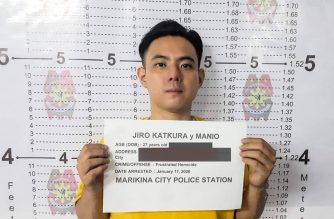 Jiro Manio mugshot /Marikina Police/