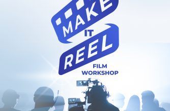 "Promotional poster of EBC Films' ""Make it Reel"" seminar. This five-day seminar workshop features tools for aspiring filmmakers"