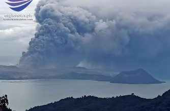 Alert level 4 still hoisted over Taal volcano as it continues to generate lava fountains, steam-laden plumes