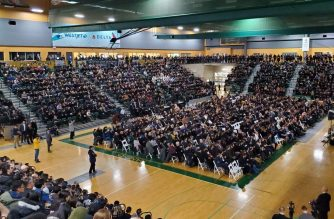 More than 2,000 people attend memorial service for Edmonton victims of Iran plane crash. Photo by Thomas I. Likness, EBC Edmonton Bureau, Eagle News Service.