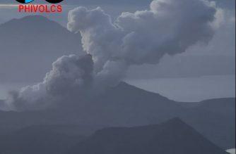Taal volcano as of Jan. 16. /PHIVOLCS/