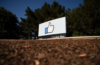 "(FILES) In this file photo taken on October 23, 2019 The Facebook ""like"" sign is seen at Facebook's corporate headquarters campus in Menlo Park, California, on October 23, 2019. - Facebook on January 29, 2020 reported quarterly earnings and user growth that beat expectations, but shares took a hit in after-market trades. The leading online social network reported its net income rose seven percent from a year ago to $7.3 billion, while revenue increased 25 percent to $21 billion in the final three months of last year. (Photo by Josh Edelson / AFP)"