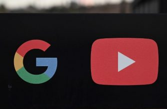 "(FILES) In this file photo taken on November 21, 2019, the Google and YouTube logos are seen at the entrance to the Google offices in Los Angeles, California. - YouTube said February 3, 2020 it would remove election-related videos that are ""manipulated or doctored"" to mislead voters, as part of its efforts to stem online misinformation. The Google-owned video service said it was taking the measures as part of an effort to be a ""more reliable source"" for news and to promote a ""healthy political discourse."" (Photo by Robyn Beck / AFP)"