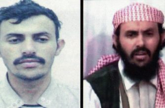 """(FILES) In this file photo reproduction of a combo of two pictures of a suspected military chief of al-Qaeda network in Yemen, identified as Qassem al-Rimi (or Qassim al-Rimi), shows the activist on a Yemeni interior ministry document in two different undated images. - US President Donald Trump confirmed on February 6, 2020 that US forces had killed the leader of jihadist group Al-Qaeda in the Arabian Peninsula in Yemen. The US """"conducted a counterterrorism operation in Yemen that successfully eliminated Qassim al-Rimi, a founder and the leader of Al-Qaeda in the Arabian Peninsula (AQAP),"""" Trump said in a White House statement. (Photo by - / YEMENI MINISTRY OF INTERIOR / AFP)"""
