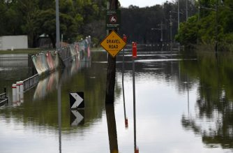 This picture taken on February 10, 2020 shows a general view of flooded area in Sydney. - Heavy rain has given hope to Australia's drought-stricken regions, but scientists warned on February 11 sustained falls were needed to end a years-long dry spell. (Photo by Saeed KHAN / AFP)