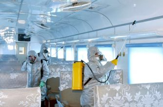 "This undated picture released from North Korea's official Korean Central News Agency (KCNA) on February 15, 2020 shows people in protective suits spraying disinfectant at an undisclosed location in North Korea, amid concerns of the COVID-19 coronavirus outbreak. - The death toll from China's new coronavirus epidemic jumped past 1,500 on February 15 but new infections fell following a mid-week surge caused by a change in the way cases are counted. (Photo by STR / KCNA VIA KNS / AFP) / - South Korea OUT / REPUBLIC OF KOREA OUT   ---EDITORS NOTE--- RESTRICTED TO EDITORIAL USE - MANDATORY CREDIT ""AFP PHOTO/KCNA VIA KNS"" - NO MARKETING NO ADVERTISING CAMPAIGNS - DISTRIBUTED AS A SERVICE TO CLIENTS THIS PICTURE WAS MADE AVAILABLE BY A THIRD PARTY. AFP CAN NOT INDEPENDENTLY VERIFY THE AUTHENTICITY, LOCATION, DATE AND CONTENT OF THIS IMAGE. /"