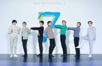 """This handout photo provided by Big Hit Entertainment on February 24, 2020 shows K-pop group BTS members posing for a photo before a press conference to promote their fourth album """"Map of the Soul: 7"""" in Seoul. - South Korea's coronavirus outbreak forced K-pop superstars BTS to livestream a conference promoting their new album from an empty hall on February 24, with members urging fans to take care of themselves. (Photo by Handout / Big Hit Entertainment / AFP) / RESTRICTED TO EDITORIAL USE - MANDATORY CREDIT """"AFP PHOTO / Big Hit Entertainment"""" - NO MARKETING NO ADVERTISING CAMPAIGNS - DISTRIBUTED AS A SERVICE TO CLIENTS == NO ARCHIVE"""