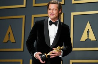 "HOLLYWOOD, CALIFORNIA - FEBRUARY 09: Brad Pitt, winner of Best Actor in a Supporting Role for ""Once Upon a Time...in Hollywood, poses in the press room during 92nd Annual Academy Awards at Hollywood and Highland on February 09, 2020 in Hollywood, California.   Rachel Luna/Getty Images/AFP"