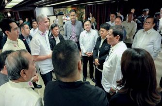 President Rodrigo Duterte on Tuesday, Feb. 25, met with government officials to discuss ways to address the outbreak of the African Swine Fever in some parts of the country./Palace/