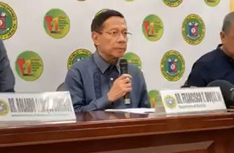 Health Secretary Francisco Duque III on Thursday, Feb. 6, 2020 bares the repatriation plan and quarantine process for oveseas Filipino workers from China who will be transported over the weekend.  (Screenshot from DOH Facebook/Courtesy DOH)