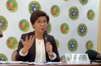 Health Assistant Secretary Dr. Maria Rosario Vergeire holds a press briefing on Wednesday, Feb. 19, 2020, giving updates on the COVID-19 cases in the country.  (Photo grabbed from DOH Facebook/ Courtesy DOH Facebook)