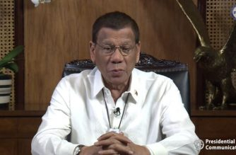 President Rodrigo Duterte addresses the nation in a vide message posted on RTVM's Facebook account on Wednesday, Feb. 12./RTVM/
