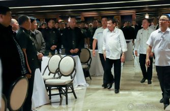(File photo) President Rodrigo Roa Duterte arrives at the Heroes Hall in Malacañan Palace to preside over the Joint Armed Forces of the Philippines-Philippine National Police Command Conference on February 6, 2020. REY BANIQUET/PRESIDENTIAL PHOTO