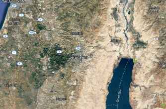 Map showing Jerusalem/Courtesy Google maps
