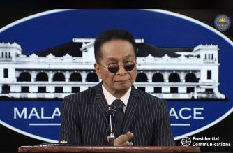 Presidential Spokesperson Salvador Panelo holds a press briefing on Thursday, Feb. 13, 2020, in Malacanang. (Photo grabbed from RTVM video)