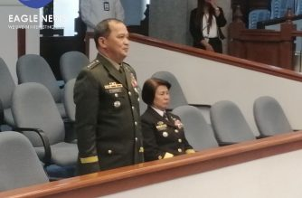 The Commission on Appointments on Wednesday, Feb. 12, confirmed the appointments of Lt. Gen. Felimon Santos Jr. and Luzviminda Camacho as the first female Navy commodore./Meanne Corvera/Eagle News/