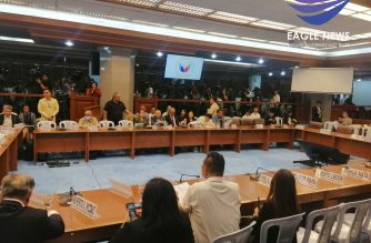 The Senate committee on public services on Monday, Feb. 24, began its hearings on bills seeking the renewal of ABSCBN's franchise. This was despite the fact the House has yet to conduct hearings on the matter. /Meanne Corvera/Eagle News/
