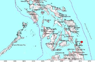 3.4-magnitude quake hits Surigao del Sur