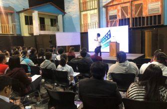 Direk Carlo Cuevas speaking in front of participants of EBC Film's Make It Reel workshop and seminar. (Photo by: EBC Films)