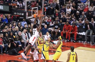 The Toronto Raptors dominated the Indiana Pacers and set a franchise record. Photo by Zharita Sese, EBC Southern Ontario Bureau, Eagle News Service.