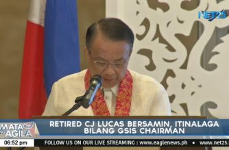 Retired CJ Bersamin is new GSIS chair