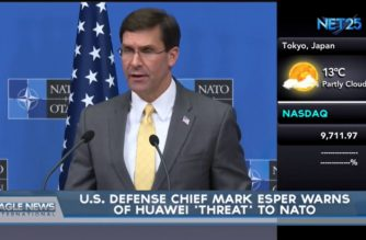 US defense chief warns NATO of China's Huawei 'threat', asks allies not to allow it to build new 5G networks