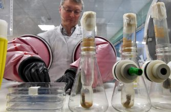 Doctor Philip Supply, Research Director for the National Centre for Scientific Research (CNRS), holds on March 22, 2018 in Lille, northern France, the original test tube containing the strain of Bacillus Calmette–Guerin (BCG) discovered by French researchers Albert Calmette and Camille Guerin in the early 20th century. (Photo by Denis Charlet / AFP)