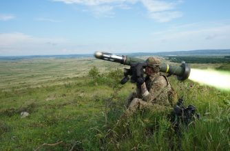 "In this image obtained from the US Army, an Army soldier fires the Javelin anti-tank missile at a live fire exercise during Saber Guardian 2019 near Várpalota, Hungary, on June 5, 2019. - The US said on June 29, 2019, it was looking into a report that US anti-tank missiles were found by forces loyal to Libya's unity government at a captured rebel base. The New York Times reported June 28 that four Javelin missiles were found at a base used by men under the command of Khalifa Haftar, a strongman who has waged a months-long offensive against Libya's internationally recognized government based in Tripoli. (Photo by LaShic Patterson / US ARMY / AFP) / RESTRICTED TO EDITORIAL USE - MANDATORY CREDIT ""AFP PHOTO / US Army / Sgt. LaShic Patterson"" - NO MARKETING NO ADVERTISING CAMPAIGNS - DISTRIBUTED AS A SERVICE TO CLIENTS"