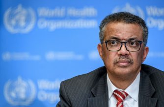 (File photo) World Health Organization (WHO) Director-General Tedros Adhanom Ghebreyesus attends a daily press briefing on COVID-19 virus at the WHO headquarters in Geneva on March 11, 2020. - WHO Director-General Tedros Adhanom Ghebreyesus announced on March 11, 2020 that the new coronavirus outbreak can now be characterised as a pandemic. (Photo by Fabrice COFFRINI / AFP)