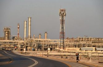 (FILES) In this file photo taken on September 20, 2019 A general view of Saudi Aramco's Abqaiq oil processing plant on September 20, 2019. - Saudi Aramco reported today a 20.6 percent drop in 2019 net profit due to lower crude prices and production levels, in its first earnings announcement as a listed company amid an escalating price war. (Photo by Fayez Nureldine / AFP)