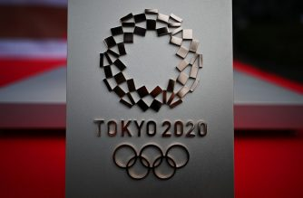 "(FILES) In this file photo taken on February 15, 2020 the logo for the Tokyo 2020 Olympic Games is seen in Tokyo. - Japan has asked for a one-year postponement of the Tokyo 2020 Games over the global coronavirus pandemic, and the International Olympic Committee has agreed, the country's prime minister said on March 24, 2020. ""I proposed to postpone for about a year and president Bach responded with 100 percent agreement,"" Shinzo Abe told reporters referring to Thomas Bach, head of the IOC. (Photo by CHARLY TRIBALLEAU / AFP)"