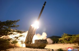 "This picture taken on March 29, 2020 and released from North Korea's official Korean Central News Agency (KCNA) on March 30 shows a test-fire of super-large multiple rocket launchers at an undisclosed location in North Korea. (Photo by STR / KCNA VIA KNS / AFP) / - South Korea OUT / ---EDITORS NOTE--- RESTRICTED TO EDITORIAL USE - MANDATORY CREDIT ""AFP PHOTO/KCNA VIA KNS"" - NO MARKETING NO ADVERTISING CAMPAIGNS - DISTRIBUTED AS A SERVICE TO CLIENTS / THIS PICTURE WAS MADE AVAILABLE BY A THIRD PARTY. AFP CAN NOT INDEPENDENTLY VERIFY THE AUTHENTICITY, LOCATION, DATE AND CONTENT OF THIS IMAGE --- /"