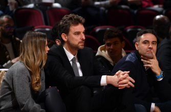 CHICAGO, IL - FEBRUARY 14: Pau Gasol attends the 2020 NBA All-Star Rising Stars Game on February 14, 2020 at the United Center in Chicago, Illinois. NOTE TO USER: User expressly acknowledges and agrees that, by downloading and or using this photograph, User is consenting to the terms and conditions of the Getty Images License Agreement. Mandatory Copyright Notice: Copyright 2020 NBAE   Jesse D. Garrabrant/NBAE via Getty Images/AFP