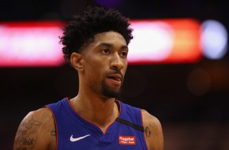 PHOENIX, ARIZONA - FEBRUARY 28: Christian Wood #35 of the Detroit Pistons reacts during the second half of the NBA game against the Phoenix Suns at Talking Stick Resort Arena on February 28, 2020 in Phoenix, Arizona. The Pistons defeated the Suns 113-111. NOTE TO USER: User expressly acknowledges and agrees that, by downloading and or using this photograph, user is consenting to the terms and conditions of the Getty Images License Agreement. Mandatory Copyright Notice: Copyright 2020 NBAE.   Christian Petersen/Getty Images/AFP