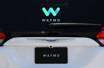 MOUNTAIN VIEW, CA - MAY 08: The Waymo logo is displayed on a self-driving vehicle at the Google I/O 2018 Conference at Shoreline Amphitheater on May 8, 2018 in Mountain View, California. Google's two day developer conference runs through Wednesday May 9.   Justin Sullivan/Getty Images/AFP