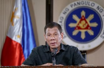 President Rodrigo Roa Duterte updates the nation on the government's efforts in addressing the coronavirus disease (COVID-19) at the Malago Clubhouse in Malacañang on March 30, 2020. KING RODRIGUEZ/PRESIDENTIAL PHOTO