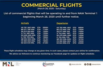 MIAA releases list of NAIA-1 operational flights starting Saturday, March 28