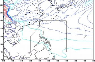 Easterlies affect eastern section of PHL