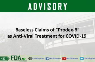 "(Courtesy: Food and Drug Administration) The FDA has warned against the use of Prodex-B as a possible treatment against COVID-19, calling ""baseless"" claims that the drug can treat or prevent COVID-19."