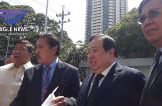 Several senators personally went to the Supreme Court on Monday, March 9, to ask the High Court to issue a declaration requiring the concurrence of 2/3 of the Senate in the termination of treaties./Moira Encina/Eagle News/