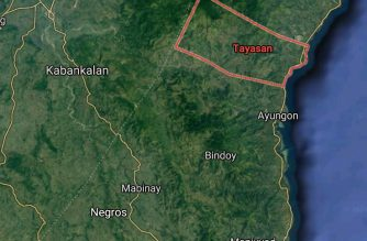 Screenshot of map showing Tayasan town in Negros Oriental. Courtesy Google map
