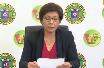 Health Undersecretary Dr. Maria Rosario Vergeire holds a virtual presser announcing the latest situationer on the COVID-19 cases in the country on Monday, March 30, 2020 (Screenshot from DOH Facebook page/Courtesy DOH)