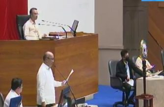 The Philippines' House of Representatives convened for a special session to address the COVID-19 crisis, convening with the use of online technology for the first time as other lawmakers connect from their homes, amid the enhanced community quarantine in Luzon, on Monday, March 23, 2020.  (Photo screenshot from Hous of Representatives Youtube/Courtesy House of Representatives)