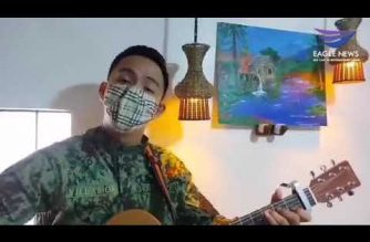 WATCH: Policeman sings song he wrote to inspire Filipinos forced to stay home amid COVID-19 quarantine