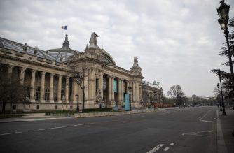 A photo taken on March 20, 2020 shows the Grand Palais in Paris, on the fourth day of a strict lockdown in France aimed at curbing the spread of COVID-19 (novel coronavirus). (Photo by Thomas SAMSON / AFP)