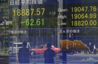 A quotation board displays share prices of the Tokyo Stock Exchange in Tokyo on April 8, 2020. - Tokyo stocks opened higher on April 8 as investors cautiously welcomed tentative signs of an improvement in the COVID-19 coronavirus crisis battering the global economy. (Photo by Kazuhiro NOGI / AFP)